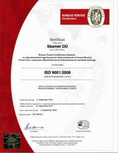 ISO 9001:2008 sertifikaat